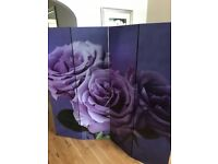 Purple Flower Room Divider