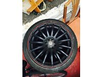 Black 17inch alloy wheels multistud fits honda,focus and many more