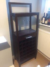 Mahogany wine rack 30 bottles modern