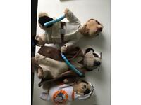 Star wars Obi Wan Kenobi; Luke Skywalker and BB8