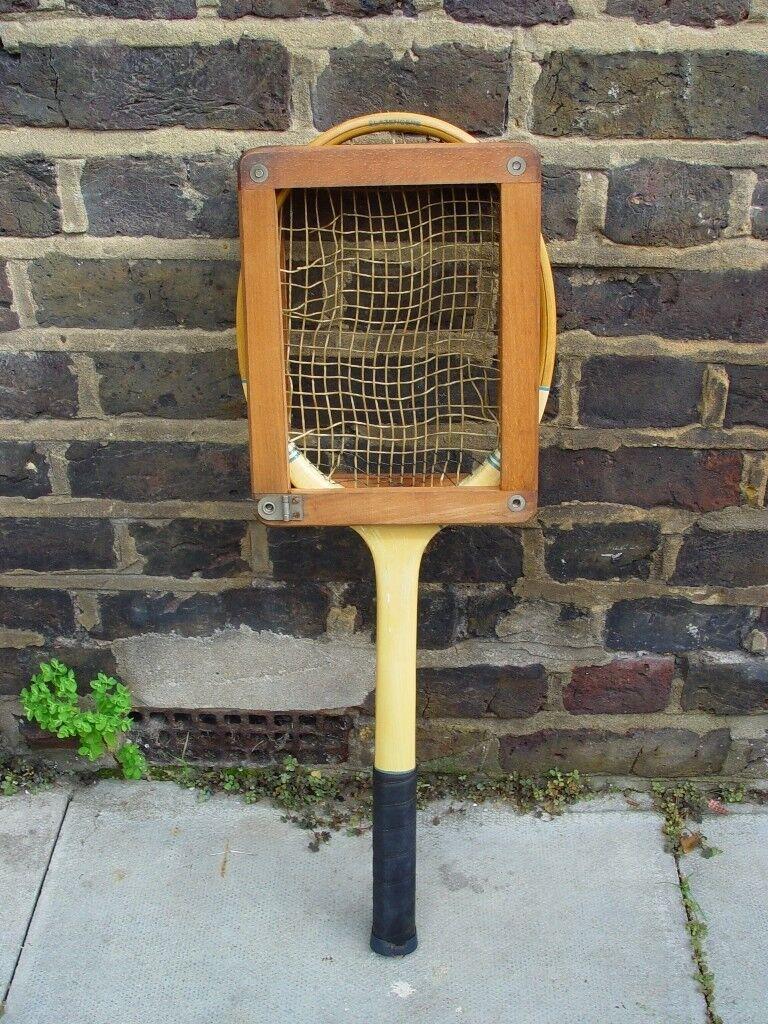 Vintage Gut String Tennis Racket Retro Mid Century S