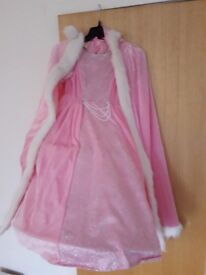 princess dress and cape age 7-8