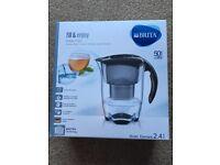 BRITA Elemaris Cool Water Filter Jug and Cartridge, Black (New In Box)