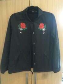 New black obey rain jacket S