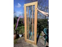 Internal Glazed hardwood doors x 2 - Good quality - solid