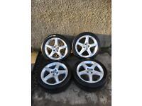 Vauxhall Corsa D SRI 17 inch alloys 4x100