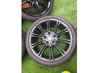 Genuine Bmw 18 inch M Sport staggered alloys alloy wheels and tyres