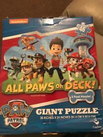 Paw patrol giant floor puzzle