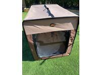 Never used Lazy Bones dog travel crate large