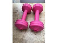 Pink dumbells 1.5kg