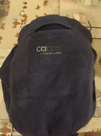 Caboo carrier + organic cotton