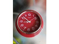 RED WALL CLOCK SMALL