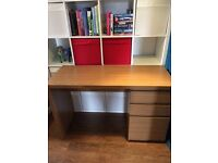Desk with filing drawer