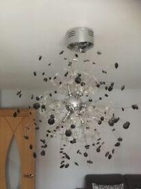 Black & White Stoned Ceiling Light