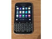 BlackBerry Classic Q20 Smart Phone Unlocked- in black with new case and new charger