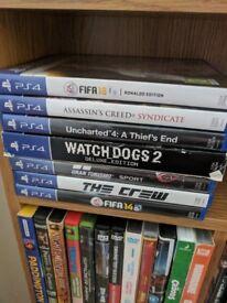 PS4 pro and games no box