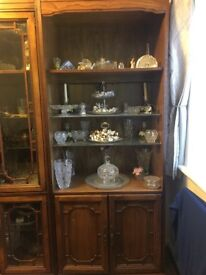 Real solid wood display cabinet