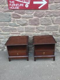 Pair of stag Minstrel bedside cabinets * free furniture delivery*