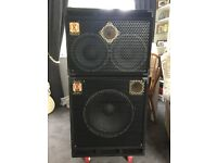 Eden bass cabs...D210 MBX and D115XLT. In superb condition. Enormous power. £750 ono