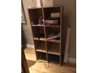 8 Shelf storage unit 140 cm x 70 cm x 35.5 cm
