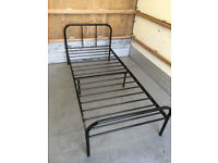 Modern Single bed 3FT Metal Bed Frame Bedstead Sturdy Frame Black