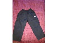 KIDS BLACK WATERPROOF TROUSERS