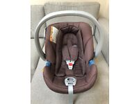 Cybex Aton baby car seat, base and rain cover