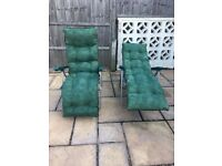 Pair of matching sun loungers