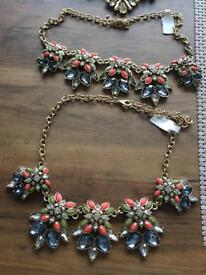 Joblot of statement necklaces ex stock ideal for shop of craft fairs stock clearance