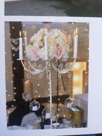 Candelabra Wedding Celebration Centre Piece Candle Holders x12