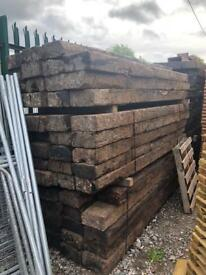 🐌 Wooden Reclaimed Railway Sleepers ~ 2600 X 250 X 125MM