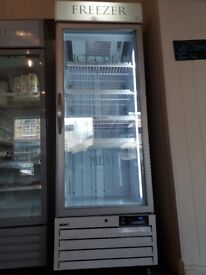 Upright display freezer in excellent condition. H202,W69.D69 cms
