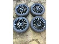 "Alloy wheels 16"" black 4x100"