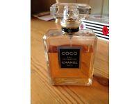 COCO CHANEL EAU DE PARFUM 100ML SPRAY PART USED