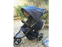 Phil & Teds Navigator V2 midnight blue double buggy for sale - excellent condition