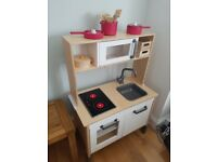 Ikea toy kitchen, kitchen accessories and toy food