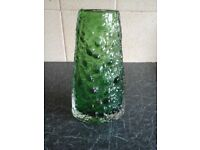Whitefriars Meadow Green Volcano Vase.