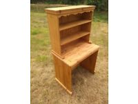 Pine dresser / desk and shelves