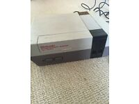Nintendo NES console, 2 controllers, Super Mario Bros 1 & 3, Duck Hunt & Teenage Mutant Hero Turtles