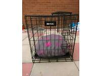 RAC nearly new Dog or cat cage with twin doors and fluffy bedding
