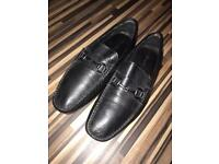 Black Leather Loafers (Kenneth Cole) U.K. Size 10