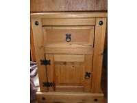 Wooden Bedside Cabinet in very good condition - 53cms wide top, 52cms wide at bottom