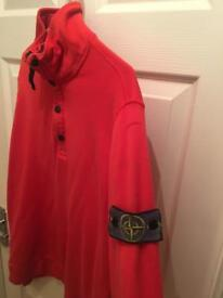 Stone island Quarter zip jumper jacket for sale mens