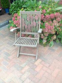 Folding garden chair in need of tlc