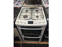 New Ex-Display Zanussi 55cm Freestanding Double Oven Bottle Gas Cooker LPG £299