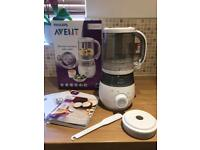 Philips Avent 4 in 1 Healthy Baby Food Maker Steamer Blender Weaning