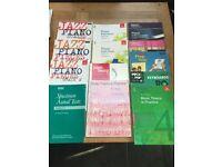 piano sheet music -lots of books