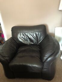 Corner leather Sofa and Arm Chair