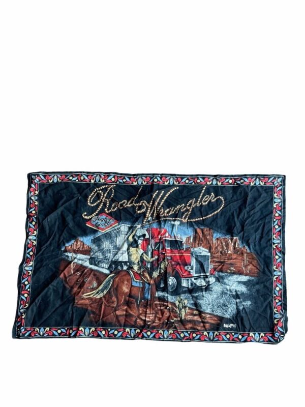 Vintage Road Wrangler Truckers Only Cowboy Semi Truck Tapestry
