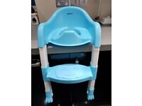 NEW never used Blue toddler toilet seat with built in step